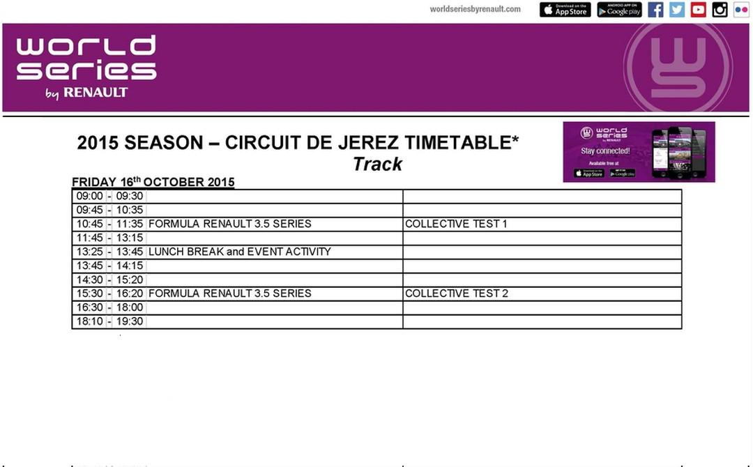October 12. 2015. Roy Nissany preparing for Jerez