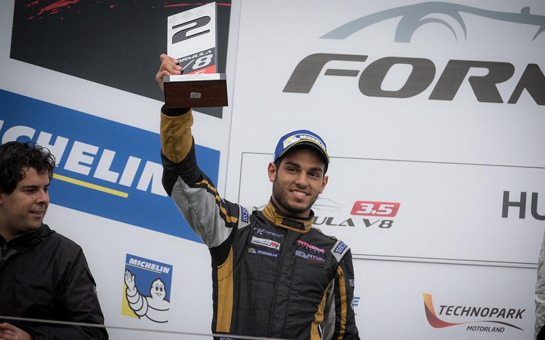 Roy Nissany Race Driver - Lotus team podium