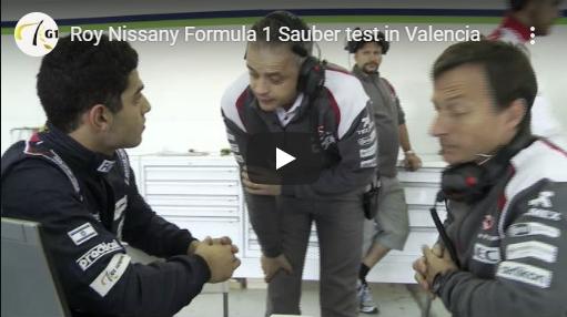 Roy Nissany Sauber Test
